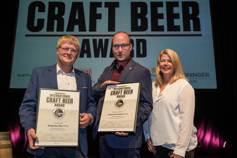 Svijany si přivezly zlato a stříbro z německé International Craft Beer Award