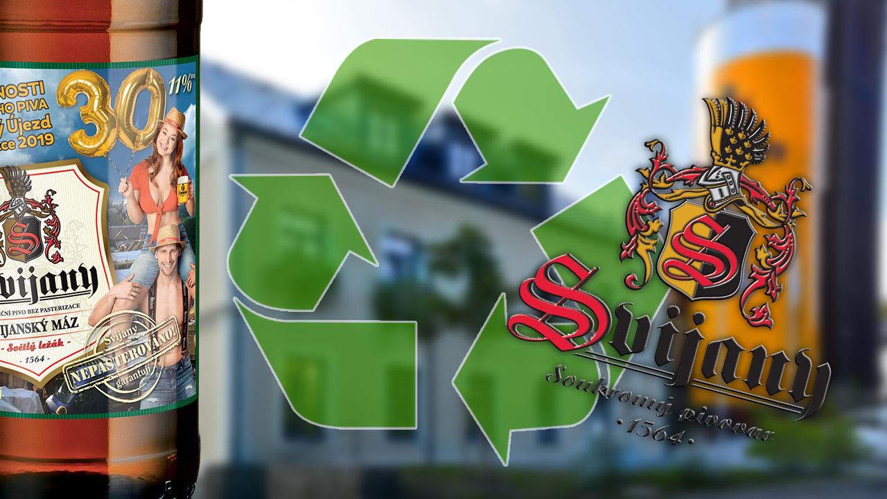 Pivovar Svijany zkouší etikety z recyklovaného papíru