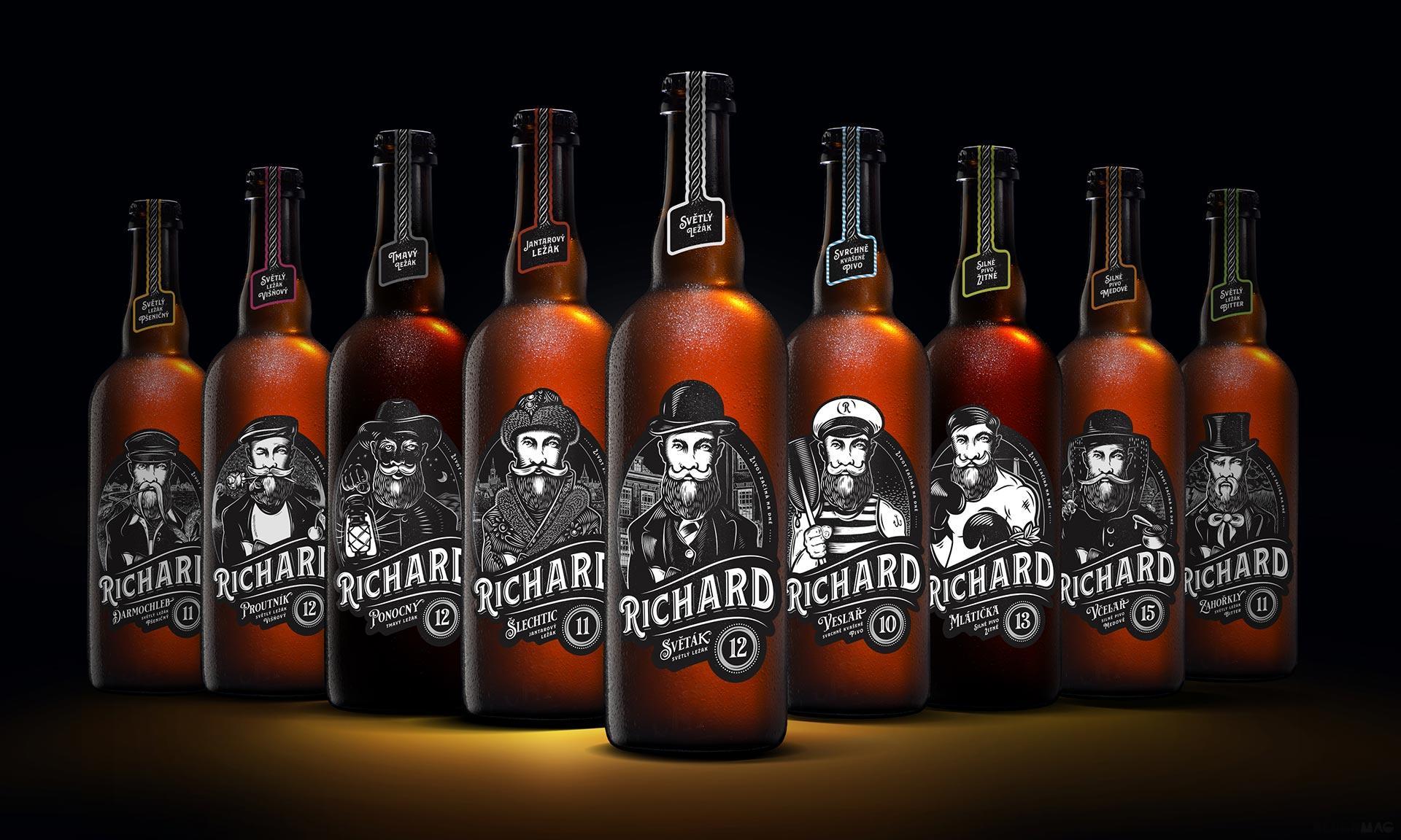 České pivo Richard dostalo prestižní ocenění za design svých etiket