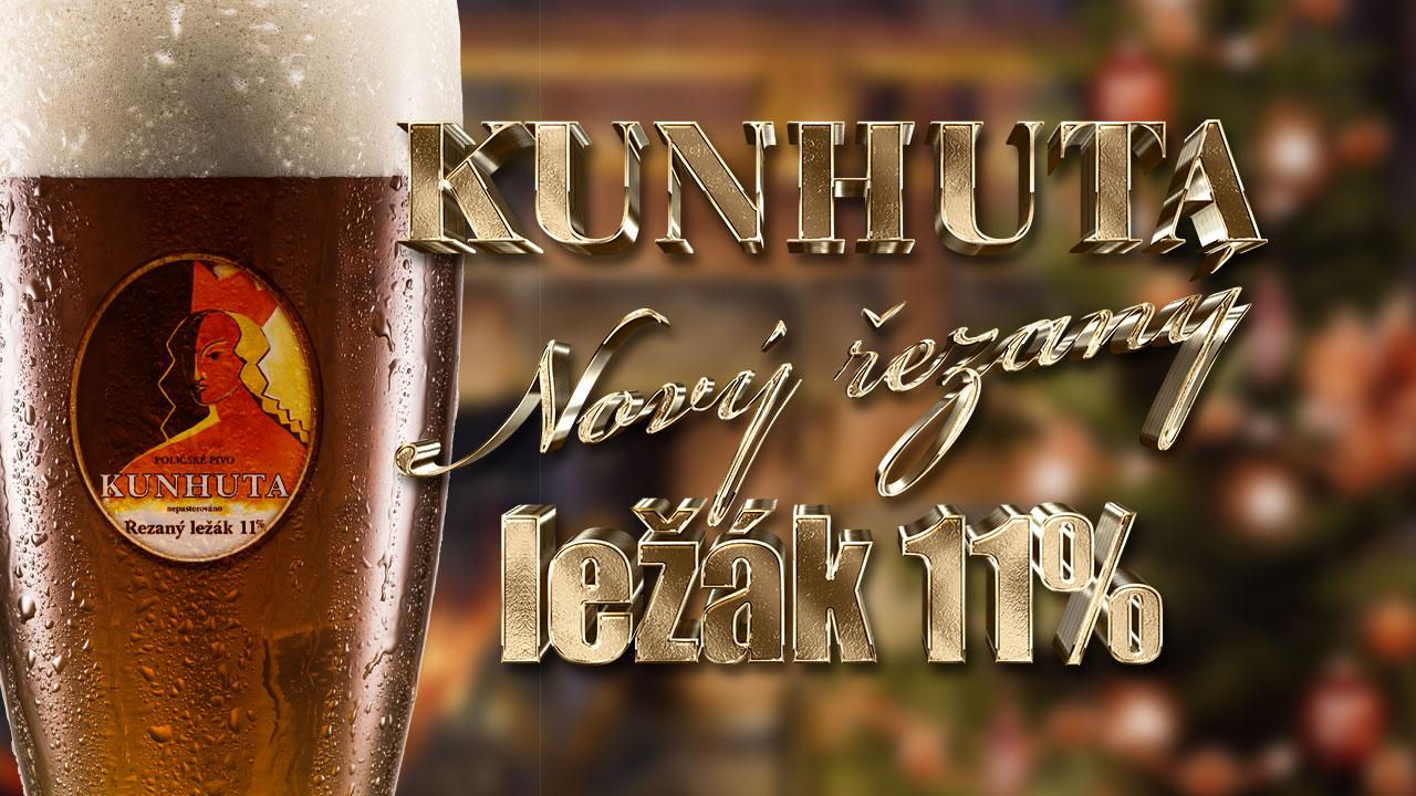 Měšťanský pivovar v Poličce připravil na Vánoce nový 11% řezaný ležák Kunhuta