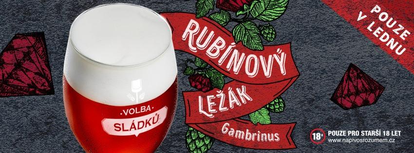 V lednové volbě sládků 2020 vás čeká Gambrinus Rubínový ležák