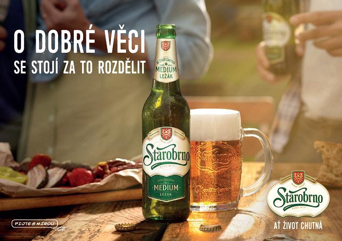 Starobrno nasazuje reklamu od Jana Prušinovského