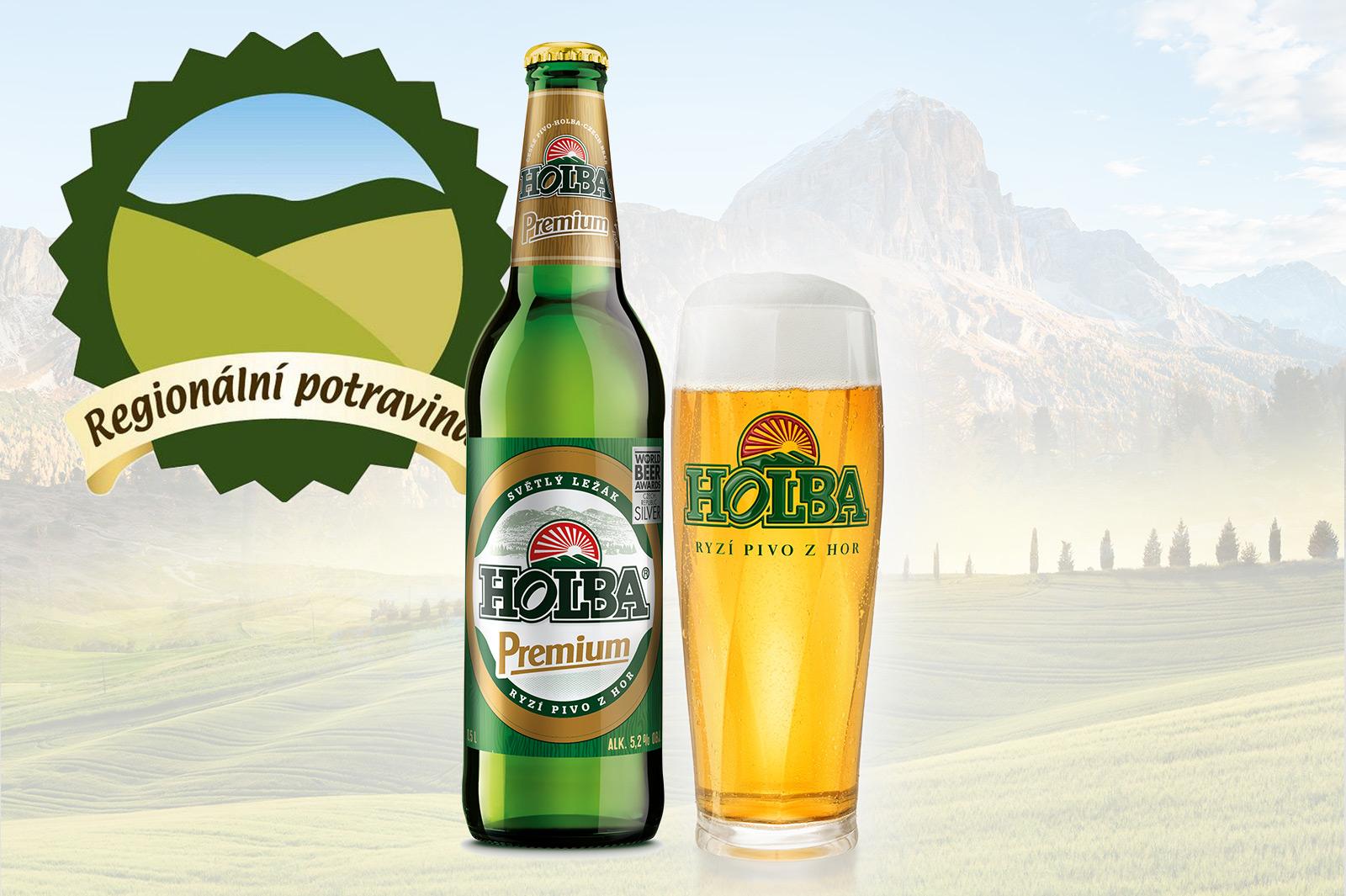 Pivo HOLBA Premium si na své konto připsalo ocenění  Regionální potravina Olomouckého kraje